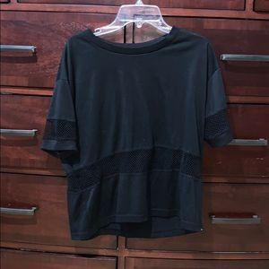Mesh Black T-shirt Brandy Melville